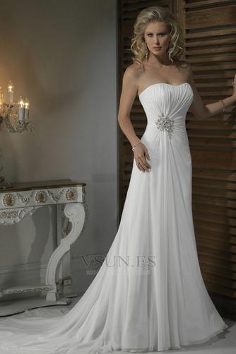Vestido de novia Corte Recto Satén Escote Corazón Espalda medio descubierto - Página 1