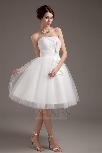 Vestido de novia Romántico Corte princesa Hasta la Rodilla Tallas pequeñas - Página 2