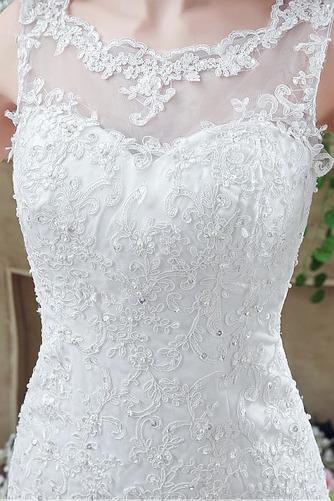 Vestido de novia Triángulo Invertido Natural Fuera de casa Barco Espalda Descubierta - Página 5