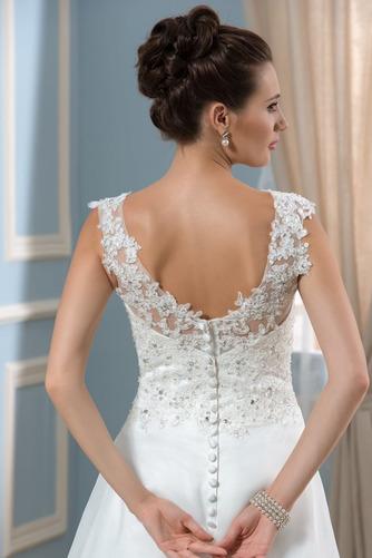 Vestido de novia Natural Cola Capilla Espalda Descubierta Corte-A Verano - Página 5
