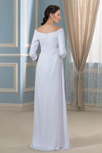 Vestido de novia Elegante Cola Barriba Playa Escote con Hombros caídos - Página 3