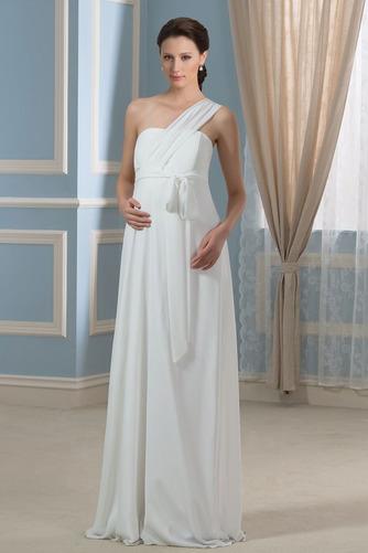 Vestido de novia Imperio Rosetón Acentuado Cremallera Blusa plisada - Página 1