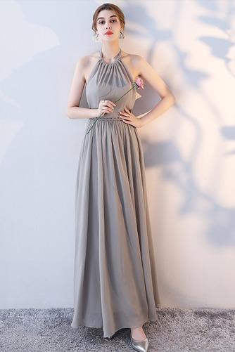 Vestido de dama de honor Natural Corte-A Blusa plisada Escote en V Sin mangas - Página 7