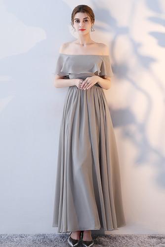 Vestido de dama de honor Natural Corte-A Blusa plisada Escote en V Sin mangas - Página 9
