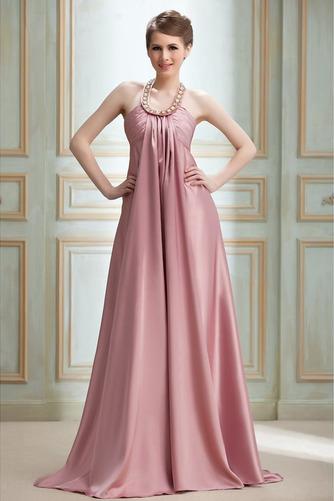 Vestido de noche Cremallera Imperio Joya primavera Plisado Satén Elástico - Página 1