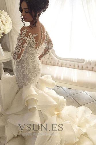 Vestido de novia Corte Sirena Pura espalda Iglesia Clasicos Botón Pomposo - Página 3