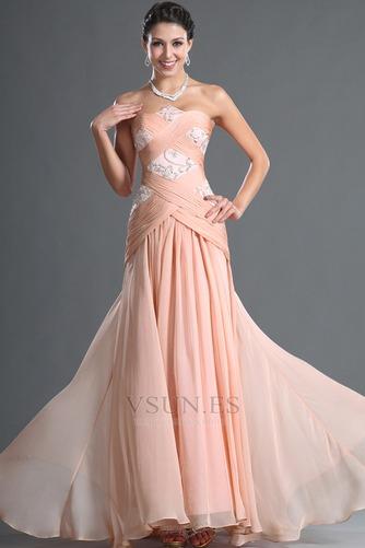 Vestido de noche Corte Sirena Sin tirantes Glamouroso Cremallera Cola Barriba - Página 2