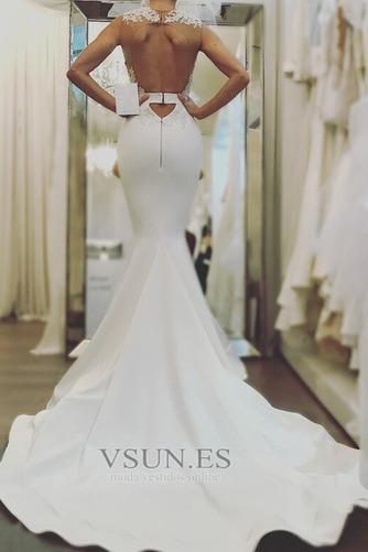 Vestido de novia Capa de encaje Abalorio Sin mangas tul Joya Natural - Página 2