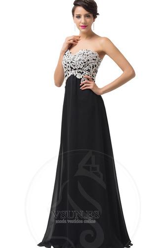 Vestido de noche Corte-A Cordón Natural Escote Corazón Encaje Cola Barriba - Página 3