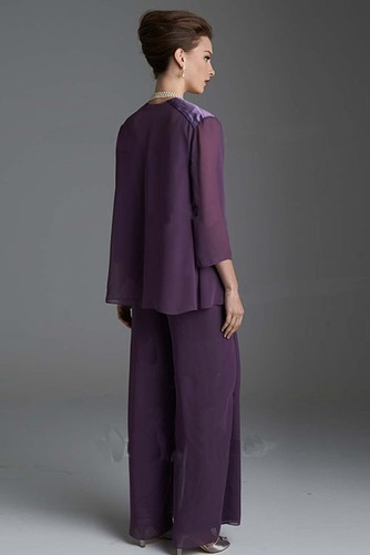Vestido de madre traje de pantalones Manga de longitud 3/4 Manzana Camiseta Hasta el Tobillo - Página 3