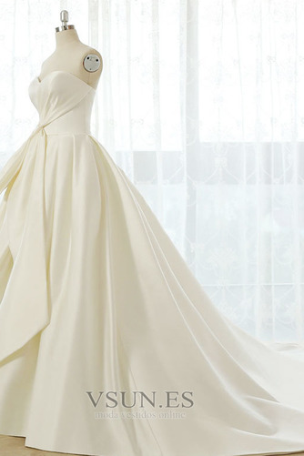 Vestido de novia Tallas grandes Cordón Natural Escote Corazón Otoño - Página 4