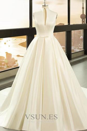 Vestido de novia Playa Escote en V Arco Acentuado Corte-A Cremallera - Página 1