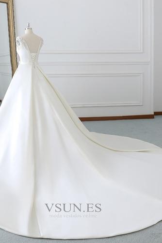 Vestido de novia Invierno Iglesia Cola Barriba Falta Espalda Descubierta - Página 4