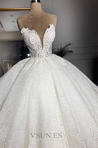 Vestido de novia Sala Capa de encaje Hasta el suelo primavera Tallas grandes - Página 2