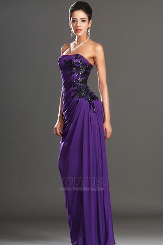 Vestido de noche Encaje Glamouroso Natural Frontal Dividida Apliques - Página 6