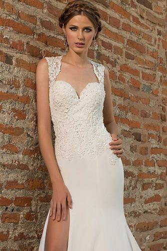 Vestido de novia Verano Satén Elástico Queen Anne Playa Apliques Cola Catedral - Página 2