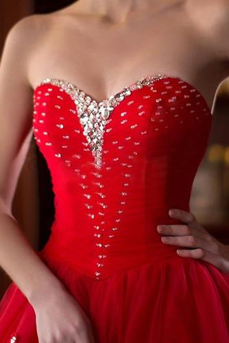 Vestido de novia primavera Natural tul Cremallera Escote Corazón Corte-A - Página 5
