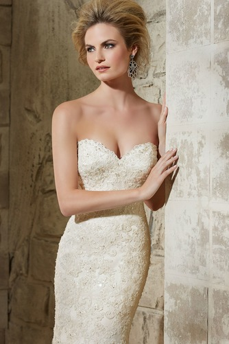Vestido de novia Moderno Sala Natural Cola Capilla Espalda Descubierta - Página 3