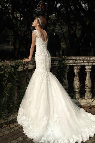 Vestido de novia Corte Sirena Encaje Cremallera Flores Natural Sin mangas - Página 2