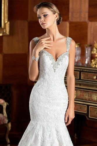 Vestido de novia Corte Sirena Cremallera Cristal Cola Capilla Colores - Página 3