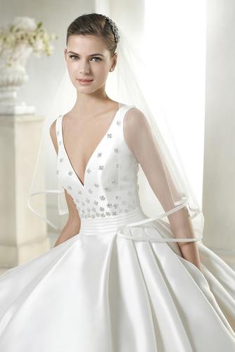 Vestido de novia Cola Capilla Colores Bolsillos Natural Iglesia Espalda medio descubierto - Página 3