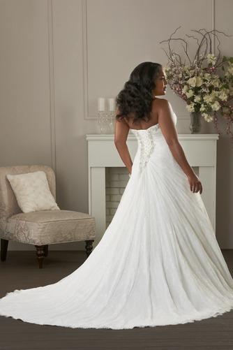 Vestido de novia Formal largo Escote Corazón Abalorio Natural Cordón - Página 2