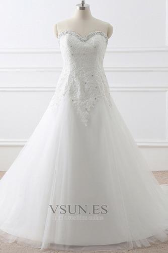 Vestido de novia Corte-A tul Cola Catedral Rectángulo Sin mangas Formal - Página 1
