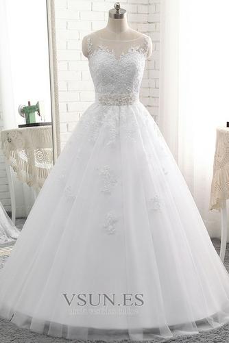 Vestido de novia Sin tirantes Natural Cordón Capa de encaje Encaje Fajas - Página 1