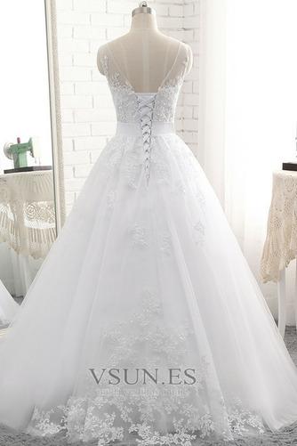 Vestido de novia Sin tirantes Natural Cordón Capa de encaje Encaje Fajas - Página 3