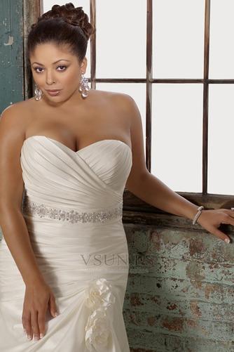 Vestido de novia 2015 Corte Sirena Sin mangas tafetán Escote Corazón - Página 3