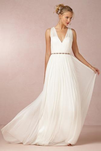 Vestido de novia Sencillo Sin mangas Espalda medio descubierto Fajas - Página 1