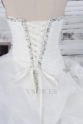 Vestido de novia Fuera de casa Exclusivo Plisado Asimétrico Dobladillo - Página 5