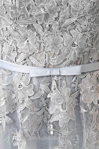Vestido de dama de honor Corte-A Cremallera Encaje Falta Hasta la Tibia Capa de encaje - Página 5