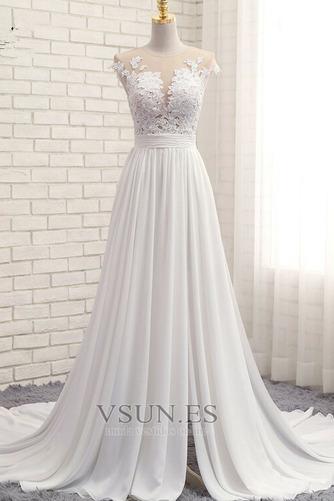 Vestido de novia primavera Apertura Frontal Natural Pura espalda Encaje - Página 1