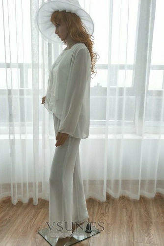 Vestido de madre traje de pantalones Hasta el Tobillo Elegante Manga larga Natural Triángulo Invertido - Página 5