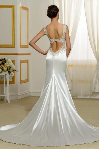 Vestido de novia Natural Corte Sirena Falta Espalda Descubierta Otoño - Página 3