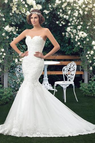Vestido de novia Corte Sirena Drapeado Fuera de casa Falta Moderno Capa de encaje - Página 2