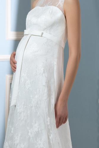Vestido de novia Drapeado Pura espalda Joya Encaje Capa de encaje Sin mangas - Página 6
