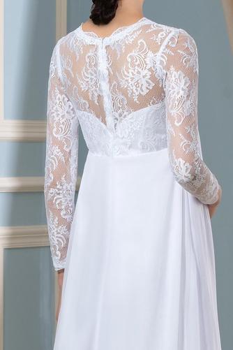 Vestido de novia Imperio Cintura Hasta el suelo Plisado Escote en V - Página 4