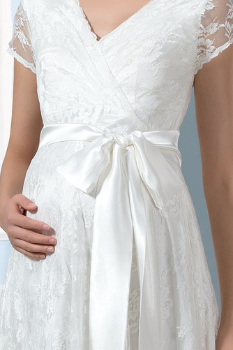 Vestido de novia Elegante Mangas Illusion Tallas grandes Imperio primavera - Página 4