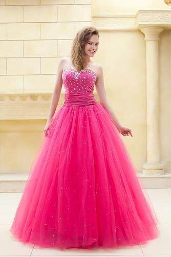 Vestido de quinceañeras Corpiño Acentuado con Perla Corte-A Formal Hasta el suelo - Página 1
