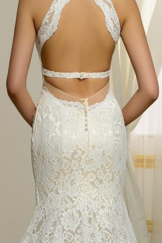Vestido de novia Escote en V Corte Recto Espalda Descubierta Playa Hasta el suelo - Página 5