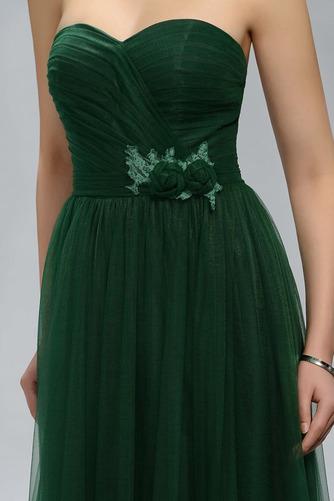 Vestido de fiesta Elegante Cola Barriba Corte-A Encaje Natural Bordado - Página 4