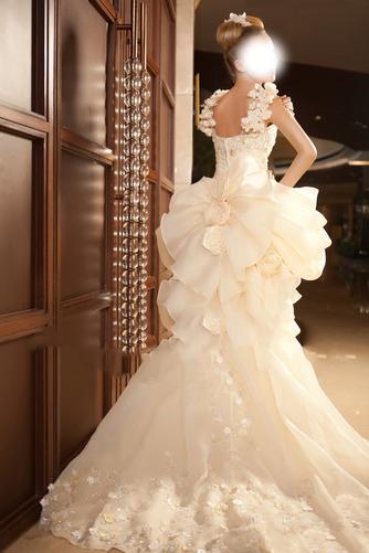 Vestido de novia Abalorio Sin mangas Tiras anchas Alto Bajo Cremallera - Página 5