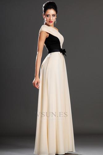 Vestido de noche Gasa Natural Corte-A Cintas Verano Asimétrico Estilo - Página 5