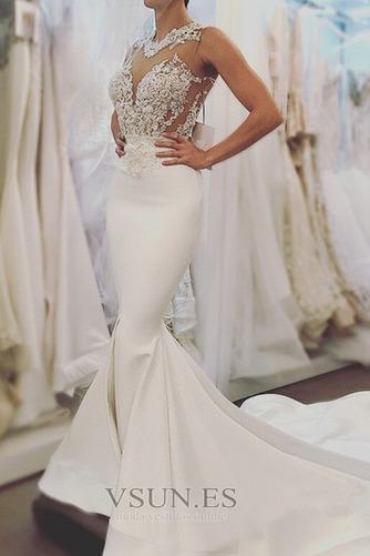 Vestido de novia Capa de encaje Abalorio Sin mangas tul Joya Natural - Página 1