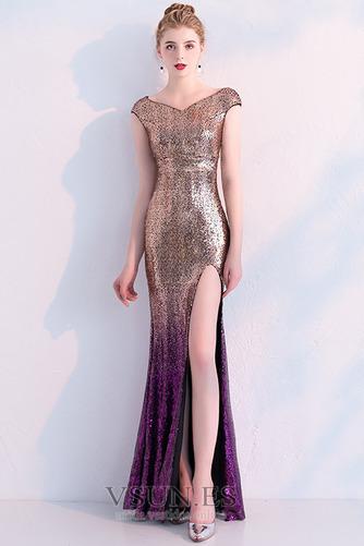 Vestido de fiesta Corte Sirena Hasta el Tobillo Tallas pequeñas Moderno - Página 6