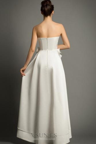 Vestido de novia Playa Cremallera Escote Corazón Lazos Natural Falta - Página 2