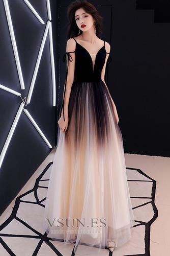 Vestido de fiesta Elegante Corte-A Natural Espalda Descubierta Escote en V - Página 1