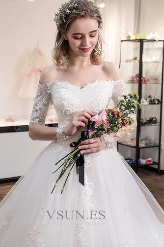Vestido de novia Cola Real Triángulo Invertido Cordón Capa de encaje - Página 4